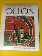 3226 - Suisse Vaud Ollon Fanfare Echo Des Alpes 35e Giron Des Musiques Du District D'AIgle 1987 - Musique