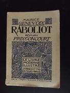 Le Livre Moderne Illustre Maurice Genevoix Raboliot - Otros Clásicos