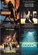 LOT 4 CPM CINEMA FILMS ACTEUR ACTRICE CYBORG DARKMAN COCOON DANCING MACHINE DELON  VAN DAMME - Posters On Cards