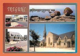 A456 / 039 29 - TREGUNC Les Rues L'église Et Le Port De Trévignon Multivues - Francia