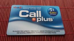 Call Plus Prepiadcard 2 Scans Rare - Télécartes