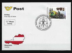 ÖSTERREICH - FDC Mi-Nr. 3032 - 140. Jahrestag Der Konzessionserteilung Zum Bau Der Raab-Oedenburg-Ebenfurter Eisenbahn - FDC