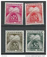 """Andorre Taxe YT 42 à 45 """" Série Timbre-Taxe En NF """" 1961 Neuf ** - Timbres-taxe"""