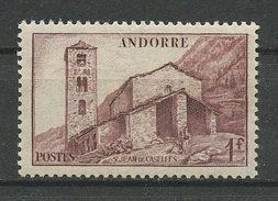ANDORRE  1944 N° 100 **  Neuf MNH Superbe Saint-Jean De Casellas