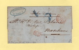 Bureau Maritime Du Havre - Destination La Nouvelle Orleans - 25 Aout 1847 - Sans Correspondance - Marcophilie (Lettres)