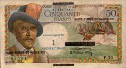 SAINT PIERRE ET MIQUELON 1NF/50 FRANCS De 1960nd Pick 30b  XF/SUP - France