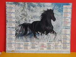 Calendrier Oller > Les Chevaux, Étalon Frison,cheval Andalou - Almanach Facteur 2015 Comme Neuf - Calendriers