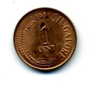 1981 1 CENT - Singapour