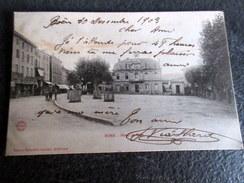 CPA à Dos Non Séparé Animée - BOEN (42) - Place De L'Hôtel De Ville - 1903 - Autres Communes