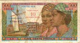 SAINT PIERRE ET MIQUELON 10NF/500 FRANCS De 1960nd Pick 33 - France