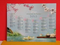 Calendrier Oller > Fleurs Nature - Almanach Facteur 2015 Comme Neuf - Calendriers