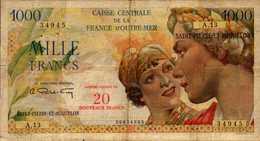 SAINT PIERRE ET MIQUELON 20NF/1000 FRANCS De 1960nd Pick 34 - Autres