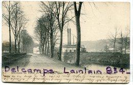 - Souvenir De TILFF - Avenue Alph. Neef - Usine, Canal, Précurseur, épaisse,  écrite, 1907,  Scans. - Esneux