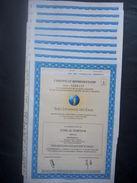 Lot 9 Certificat SUEZ Lyonnaise Eaux (Non Annulé) - Autres