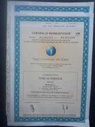 Lot 3   Certificat De 100 SUEZ Lyonnaise Eaux (Non Annulé) - Azioni & Titoli