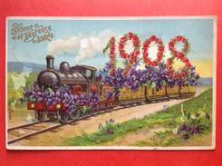 ANNEE - JAARTAL 1908 - TREIN - TRAIN - Nieuwjaar