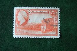 Koningin Wilhelmina 7 1/2 Ct NVPH 228 1945 Used / Gestempeld SURINAME / SURINAM - Surinam ... - 1975