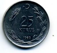 1969 25 KURUS - Turkey