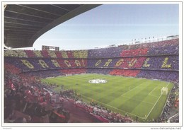 Postkaart - Uitgiftedatum 19 Augustus 2015 - 50 Jaar Voetbal International - Camp Nou - F.C. Barcelona - Ongebruikt - Fussball