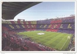 Postkaart - Uitgiftedatum 19 Augustus 2015 - 50 Jaar Voetbal International - Camp Nou - F.C. Barcelona - Ongebruikt - Stadions