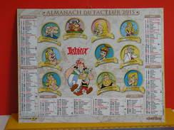 Calendrier Oberthur > Astérix Ces Amis Aux Banquet - Almanach Facteur 2015 Comme Neuf - Kalenders