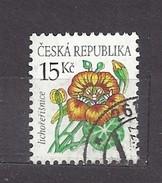 Czech Republic  Tschechische Republik 2007 Gest Mi 522 Sc 3346 Flowers  Cyclamen, Tropaeolum, Ga - Gebraucht