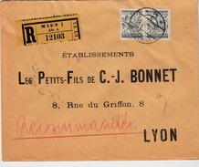 AUTRICHE - COVER - RECOMMANDE WIEN 6.XII.26 POUR LYON  L P F C.- J.BONNET - Briefe U. Dokumente