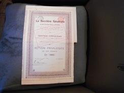 """Action Privilégiée """"La Sucrière Generale""""(sucre) Bruxelles 1908 Bon état N°3081 Coupons Attachés Avec Une épingle. - Agriculture"""