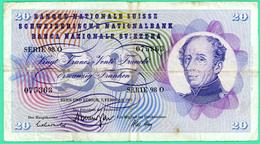 20 Francs - Suisse - Fevrier 1974 - N° - Serie 98 0 - 075363 - TB+ - - Suiza