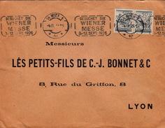 AUTRICHE - COVER -  WIEN 4.9.26 POUR LYON - B.SCHON WALDER &SOHN- FLAMME BESUCHET DIE WIENER MESSE 3-12 SEPT 1926 - Cartas