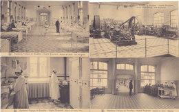 Hôpital Brugmann (Lot De 4 Cartes) Animée, Médecine, Réfectoire,salle Des Malades... - Salute, Ospedali