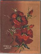 Miniature/ Bouquet D'Anémones / Peint à L'huile Sur Carton Entoilé /Amateur/ Vers 1930          GRAV - Huiles