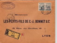 AUTRICHE - COVER - RECOMMANDE  WIEN 19.7.28 POUR LYON LES PETITS-FILS DE C-J. BONNET &Cie -  B.SCHON WALDER & SOHN - 1918-1945 1. Republik