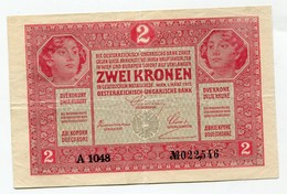 "Autriche Hongrie Austria Österreich 2 Kronen 1917 Serial "" A "" Rare !!! GOOD  GRADE - Austria"