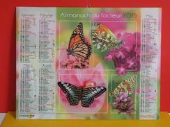 Calendrier Oberthur > Les Papillons - Almanach Facteur 2015 Comme Neuf - Calendriers