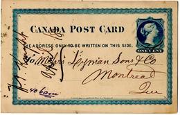 CP De Montréal (23.04.1880) Pour Montréal_1 Cent Blue - 1860-1899 Règne De Victoria