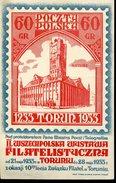 17352 Poland,special Card With Special Postmark Torun 28.5.1933 Wystawa Filatelistyczna,ratusz Torun - 1919-1939 República