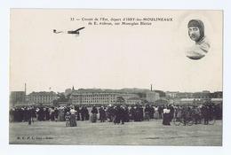 Cpa Aviation, Avion : Circuit De L'Est, Départ D'ISSY-LES-MOULINEAUX, E. AUBRUN Sur Monoplan BLÉRIOT, 1910 - Aviateurs