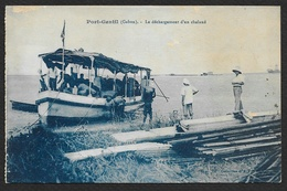 PORT GENTIL Rare Le Déchargement D'un Chaland (CEF) Gabon - Gabon