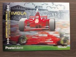 Cartolina Poste Italiane Con Annullo 20° Gran Premio Di San Marino Imola (BO) 8-4-2000 - Grand Prix / F1