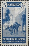 SPANISH MOROCCO 1941  Alcazarquivir - 5c. - Blue  MH - Spanish Morocco