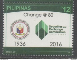 PHILIPPINES, 2016, MNH,SECURITIES AND EXCHANGE COMMISSION,  1v - Stamps