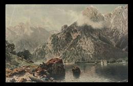 "[020] ""Königsee"" = Königssee, Künstlerkarte ~1910, Schönau Am Königssee, - Berchtesgaden"