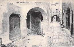 06 - SAINT PAUL : La Rue Principale - CPA - Alpes Maritimes - Saint-Paul