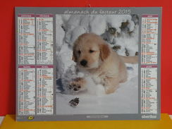 Calendrier Oberthur > Goldenretriever,Malamute D'Alaska - Almanach Facteur 2015 Comme Neuf - Calendriers
