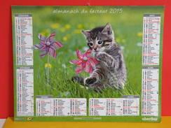 Calendrier Oberthur > Moulin à Vent, Le Panier De Chatons - Almanach Facteur 2015 Comme Neuf - Calendriers