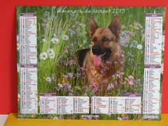 Calendrier Oberthur > Berger Allemand, Golden Retriever - Almanach Facteur 2015 Comme Neuf - Calendriers