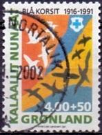 GROENLAND 1991 Blauwe Kruis GB-USED. - Gebraucht