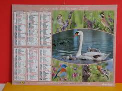 Calendrier Oberthur >Bruant Des Près,Alouette,Cygne,Merlebleu,Huppe,Colibri,Guêpier - Almanach Facteur 2015 Comme Neuf - Calendars
