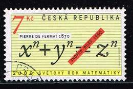 Tschechische Republik 2000, Michel# 259 O WORLD YEAR OF MATHEMATICS _ Pierre De Fermat - Tschechische Republik